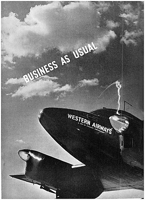 Western Airways 1939 Advert