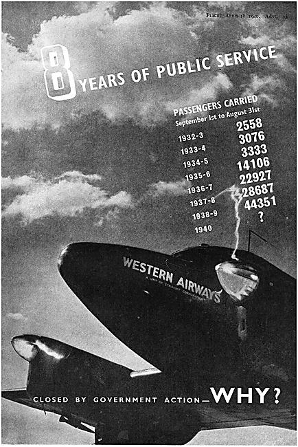 Western Airways 1940