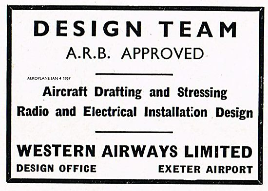 Western Airways Exeter Airport ARB Approved Design Team