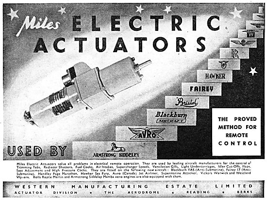 Western Manufacturing  - Miles Electrical Actuators