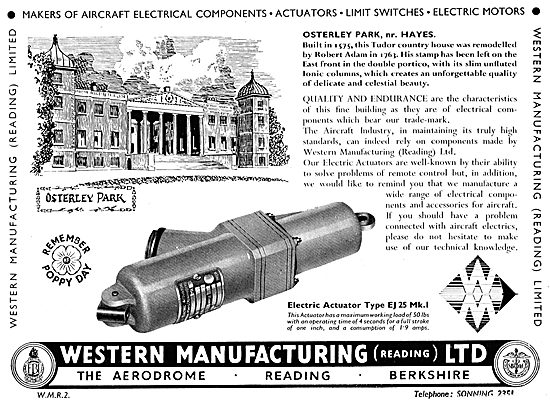 Western Manufacturing  - Electrical Actuators & Components