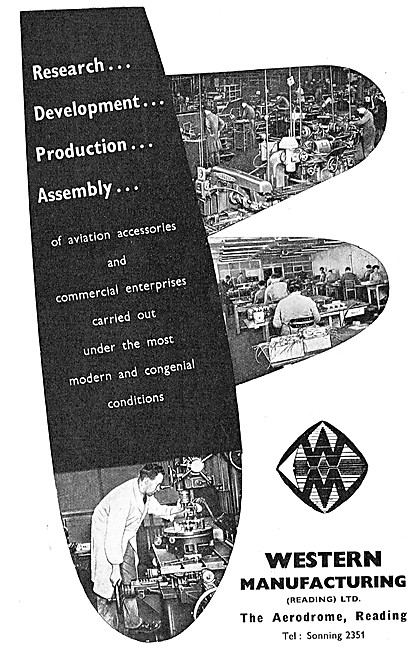 Western Manufacturing. Design & Manufacture Of Aviation Products