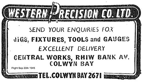 Western Precision Co For Jigs, Fixtures & Gauges.