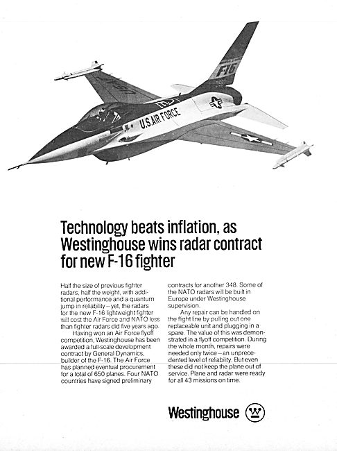 Westinghouse F-16 Radar 1975