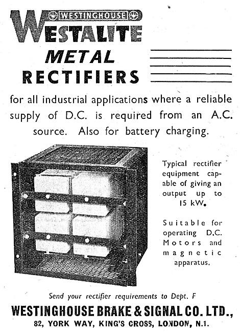Westinghouse Metal Rectifers