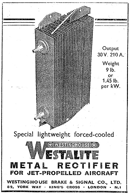 Westinghouse Westalite Aircraft Metal Rectifiers