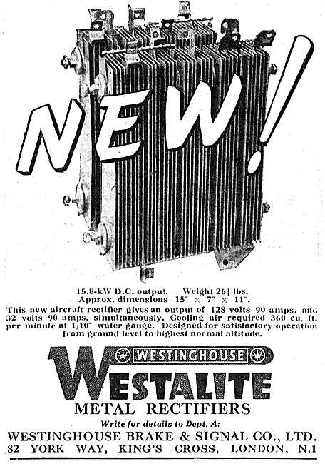 Westinghouse Metal Rectifiers