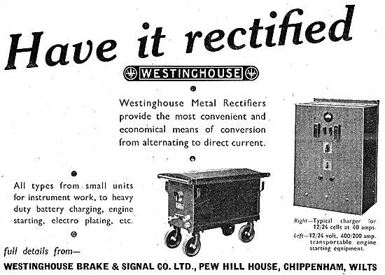 Westinghouse Brake & Signal : Industrial Rectifiers