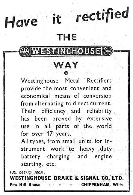 Westinghouse Rectifiers 1943 Advert
