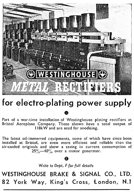 Westinghouse Metal Rectifiers Industrial Electrical Equipment