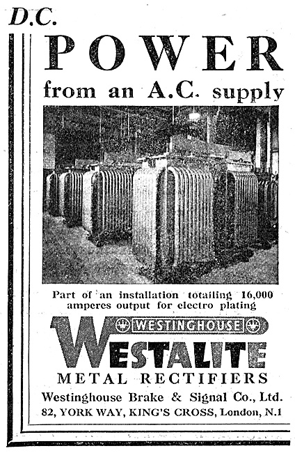 Westinghouse Industrtial DC Power Installations