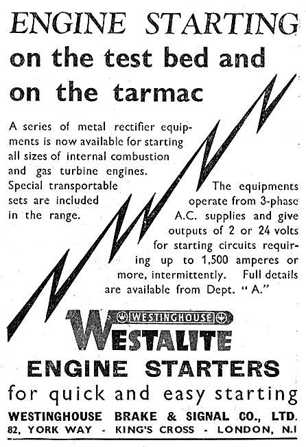Westinghouse Westalite Engine Starters