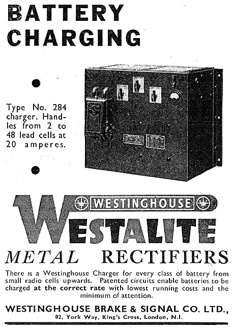 Westinghouse Westalite Battery Chargers 1947