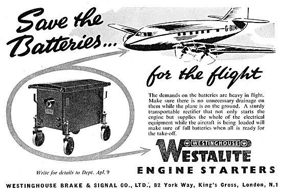Westinghouse Brake & Signal : Westalite Jet Engine Starters