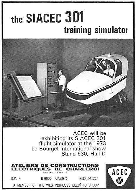 Westinghouse SIACEC 301 Flight Training Simulator