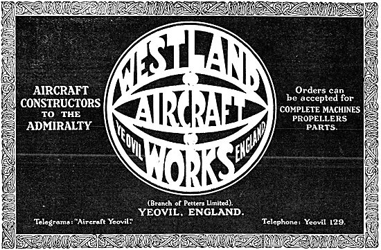 Westland Aircraft 1916 - Petters