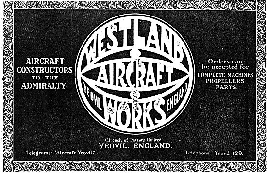 Westland Aircraft Works. Yeovil England