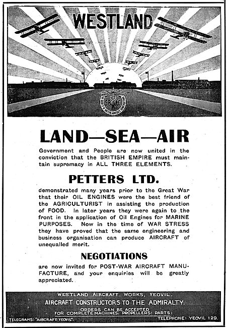 Westland Aircraft - Supremacy On Land On Sea And In The Air