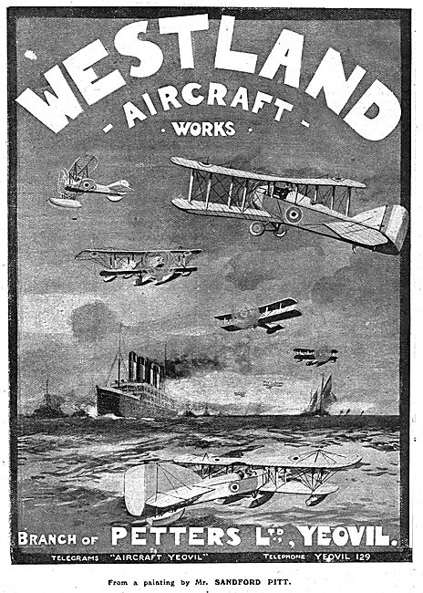 Westland Aircraft Works. A Branch Of Petters Ltd Yeovil