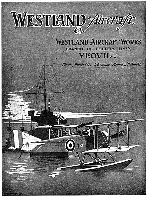 Westland Aircraft Works 1917 - Petters Ltd