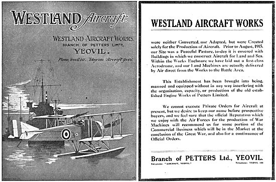 The Westland Aircraft Works