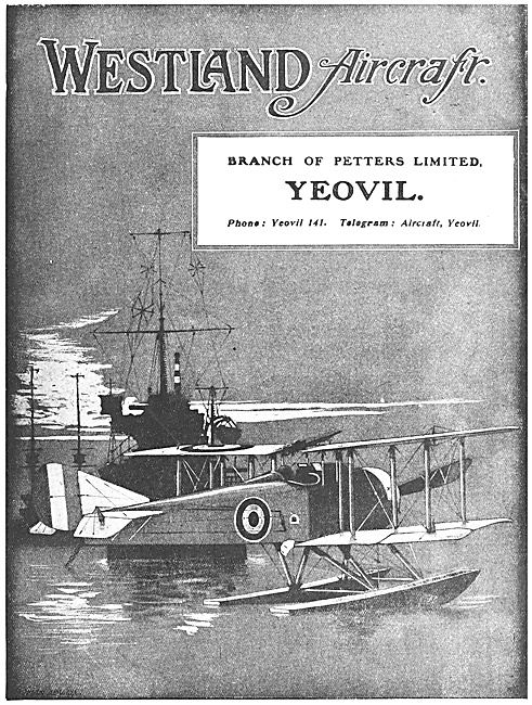 Westland Aircraft 1918