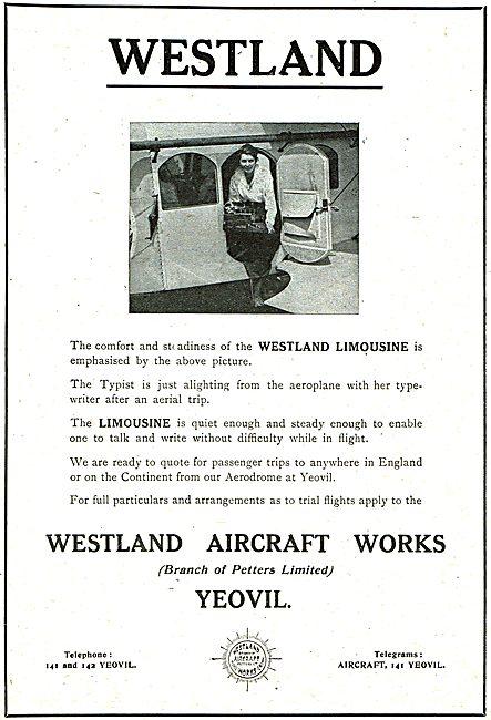 The Westland Limousine Aircraft