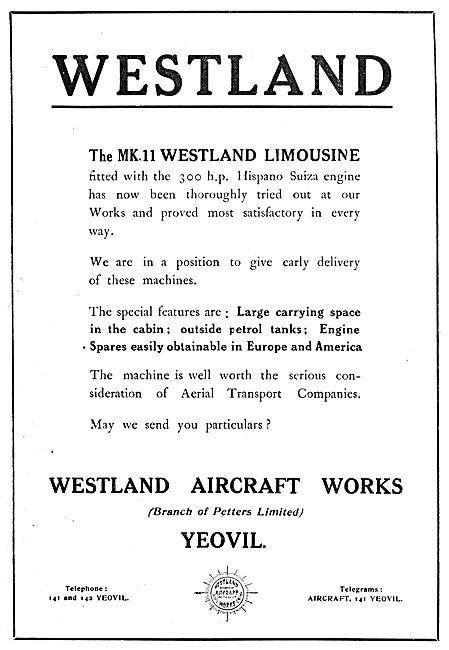 Westland MkII Limousine