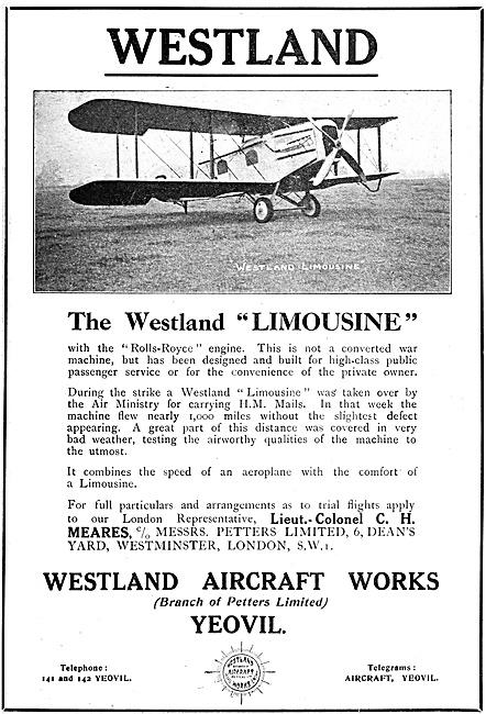 Westland Limousine 1920