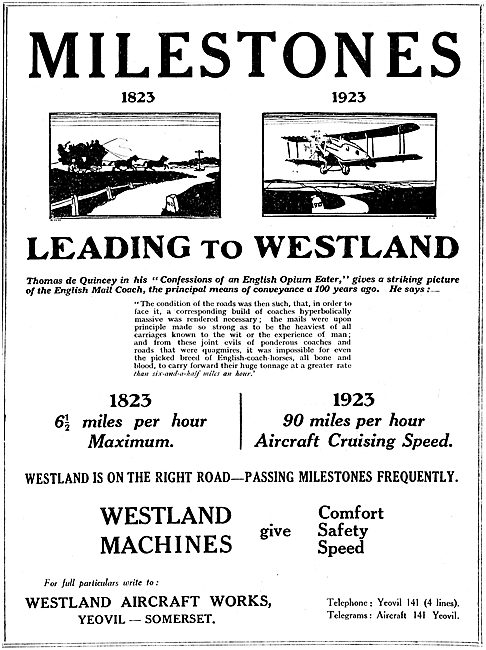 Milestones leading To Westlands