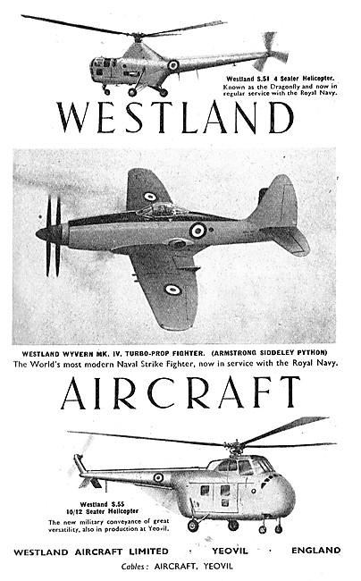Westland Aircraft - Westland Helicopters - Westland Wyvern