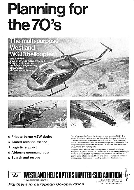 Westland Helicopters - Westland WG.13 Helicopter 1970