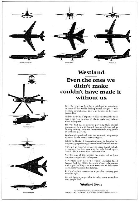 Westland Aerospace Projects 1988