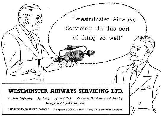 Westminster Airways Servicing : Precision Engineers, Jigs & Tools