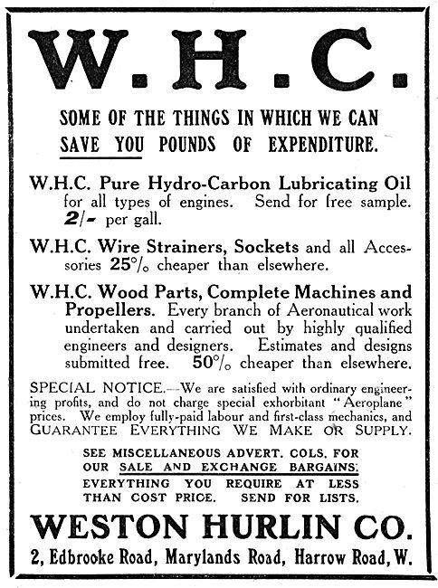 Weston Hurlin - Aeronautical Engineers. Components & Lubricants