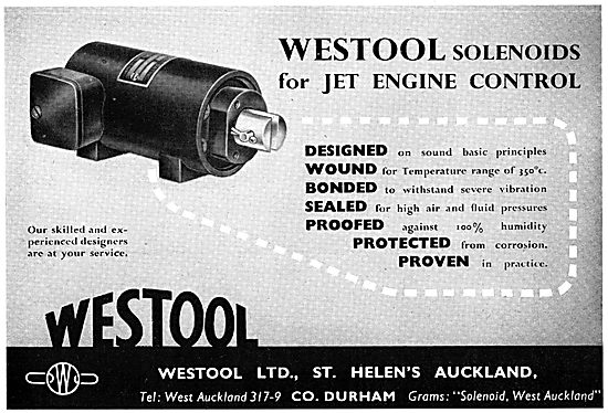 Westool Ltd : Solenoids For Jet Engine Control