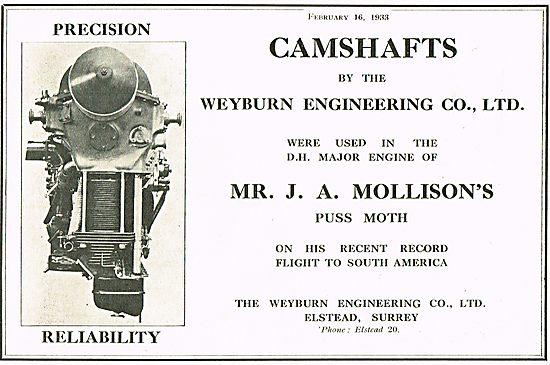 DH Gipsy Major Camshafts - Weyburn Engineering