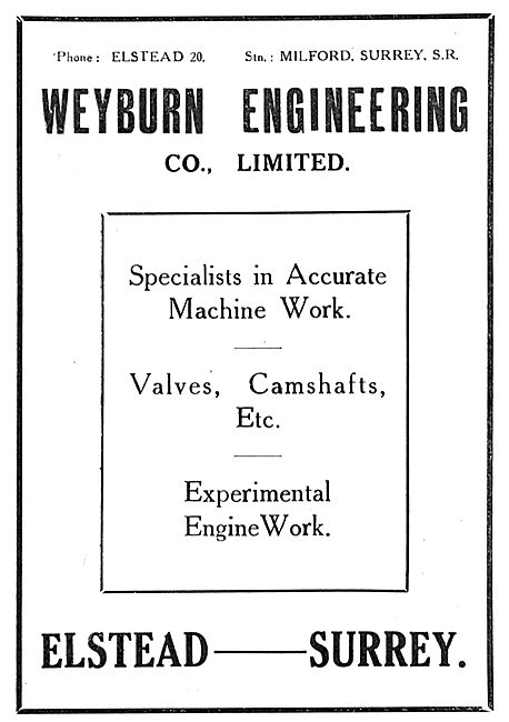 Weyburn Engineering - Specialists In Accurate Machine Work