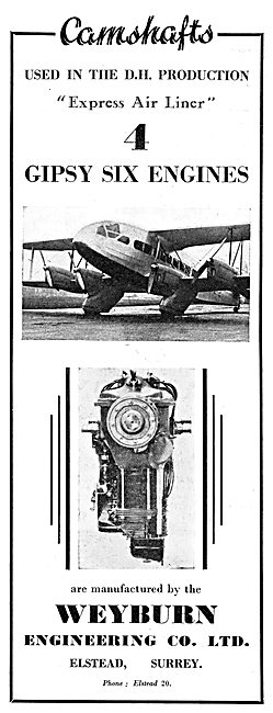 Weyburn Engineering. Aero Engine Camshafts