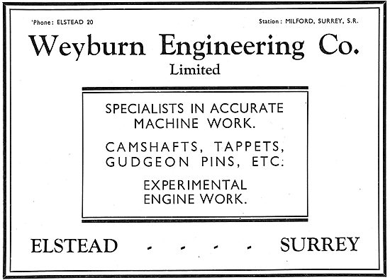 Weyburn Engineering - Canshafts - Gudgeon Pins - Tappets