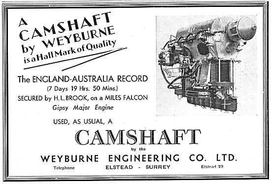 Weyburn Engineering Aero Engine Camshafts - England-Australia