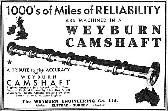 Weyburn Engineering - DH Gipsy Engine Camshafts