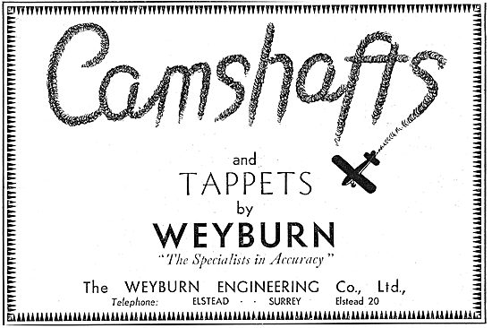 Weyburn Engineering - Aero Engine Camshafts & Tappets