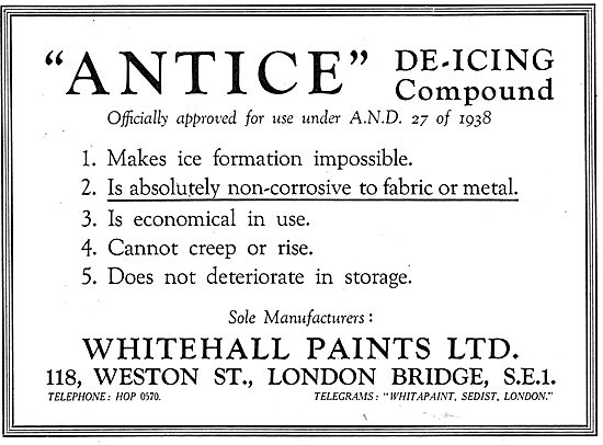 Whitehall Paints - ANTICE De-Icing Compound