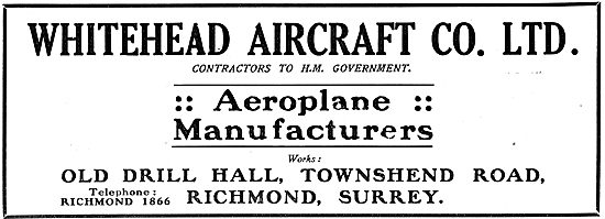 Whitehead Aircraft Co Ltd - Aeroplane Manufacturers