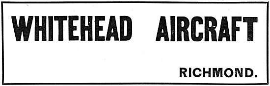 Whitehead Aircraft Company. Richmond. 1917 Advert