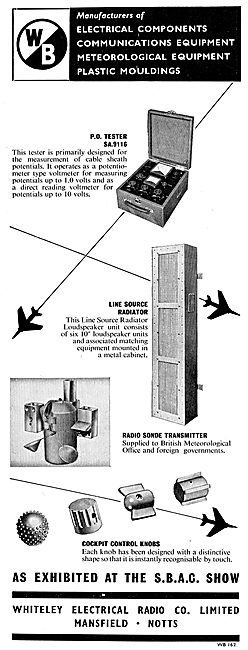 Whiteley Electrical Components For Aircraft - Radio Sonde