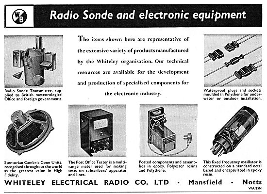 Whiteley Electronic Components For Aircraft
