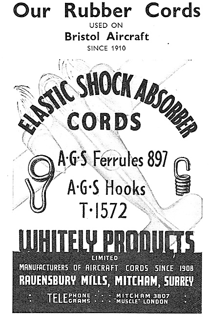 Whiteley Products. Elestic Shock Absorber Cords. AGS Ferrules