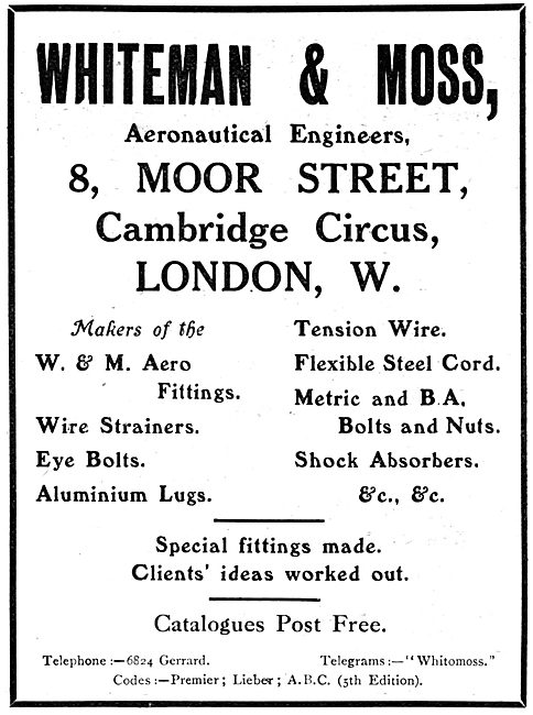 Whiteman & Moss - Aeronautical Engineers